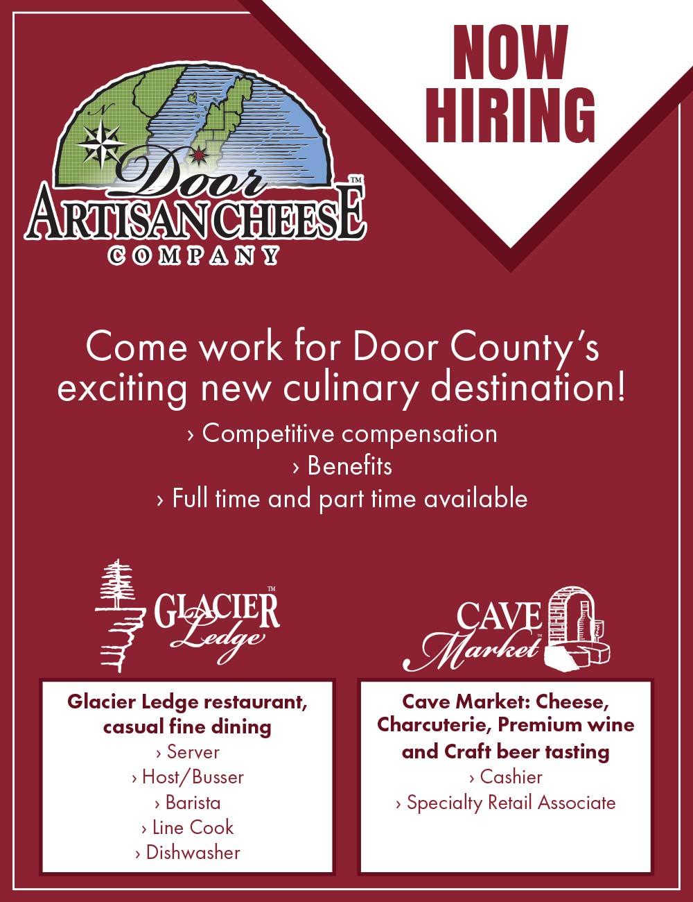 Door County Job Opeings at Door Artisan Cheese